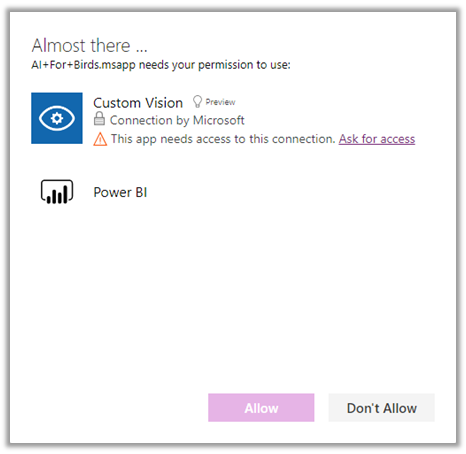 ask access power apps