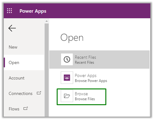 browse power apps