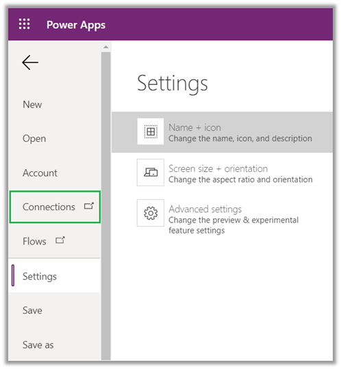 connection power apps