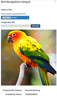 Bird Recognition using AI