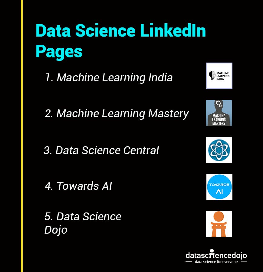 Top Data Science LinkedIn Pages