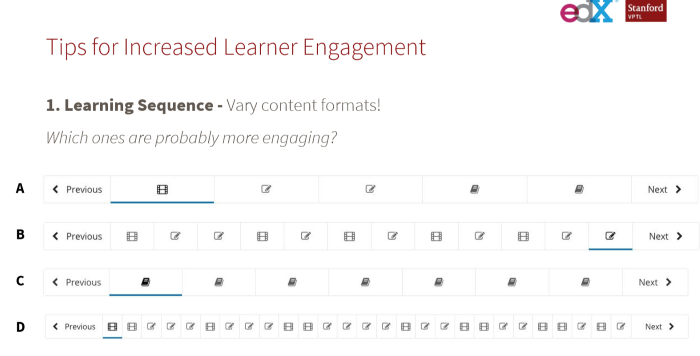 Tips for increased learner engagement