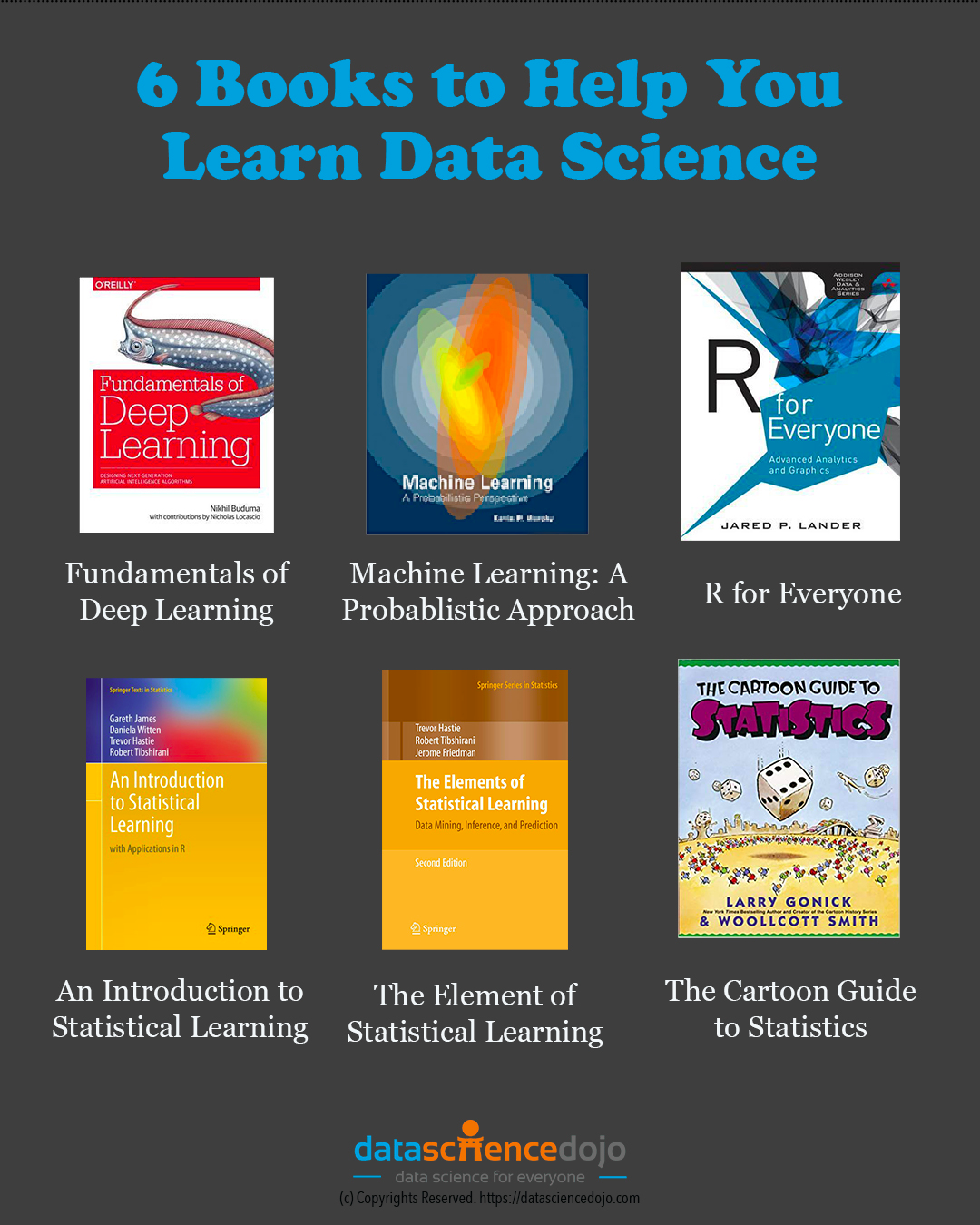 6 Books to help you learn Data Science